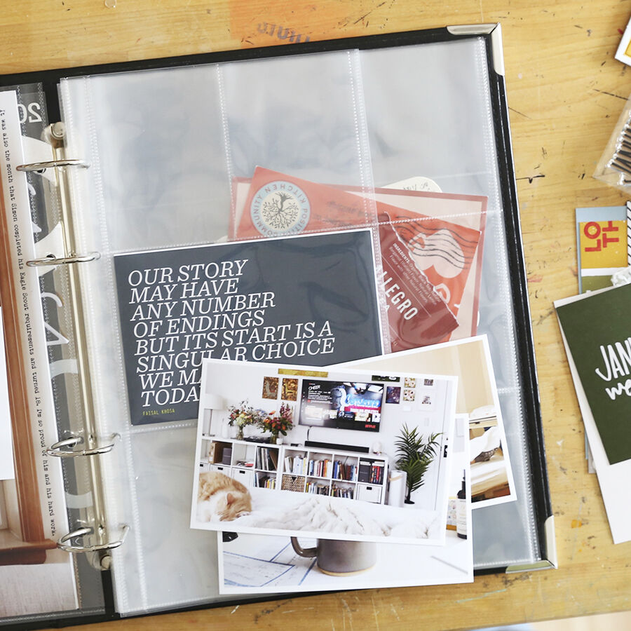 how to use 9x12 scrapbook album