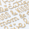 Pebbles - Nigh Night Gold Foil Thickers - Girl