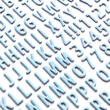 American Crafts - Shimelle - Sparkle City dekorgumi betűmatrica (134 db)