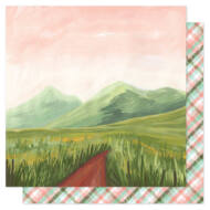 American Crafts - 1Canoe2 Saturday Afternoon 12x12 Patterned Paper - Mountain Path