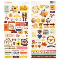 American Crafts - Amy Tangerine - Late Afternoon 6x12 Sticker (95 Piece)