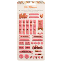 American Crafts - Amy Tangerine - Late Afternoon Embossed Puffy Stickers (39 Piece)