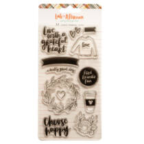 American Crafts - Amy Tangerine - Late Afternoon Acrylic Stamps (12 Piece)