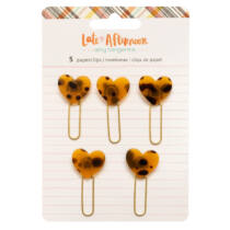 American Crafts - Amy Tangerine - Late Afternoon Heart Paperclips (5 Piece)
