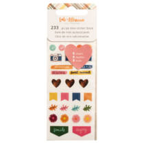 American Crafts - Amy Tangerine - Late Afternoon Mini Sticker Book (233 Piece)