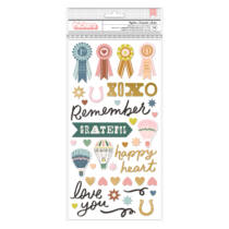 American Crafts - Maggie Holmes - Market Square Phrase Thickers - Together (78 Piece)
