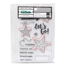 American Crafts - Vicki Boutin - Let's Wander - Stamps and Dies Set (18 Piece)