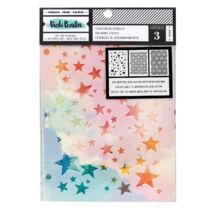 American Crafts - Vicki Boutin - Let's Wander - 8.5x6 Stencil Pack - Starstruck (3 Piece)