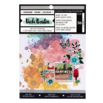 American Crafts - Vicki Boutin - Let's Wander - 6x8 Mixed Media Paper Pad (36 Sheets)