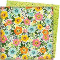 American Crafts - Vicki Boutin - Let's Wander 12x12 Paper - Sunshine and Smiles