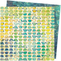 American Crafts - Vicki Boutin - Let's Wander 12x12 Paper - Beach Vibe