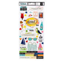 American Crafts - Vicki Boutin - Let's Wander - 6x12 Cardstock Stickers (94 Piece)
