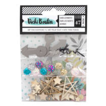 American Crafts - Vicki Boutin - Let's Wander - Embellishment Pack (52 Piece)