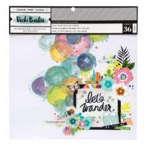 American Crafts – Vikki Boutin - Let's Wander 12x12 Mixed Media Paper (36 Sheets)