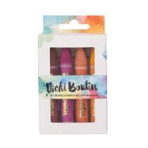 American Crafts - Vicki Boutin - Art Crayons Warm Colors (8 Pieces)