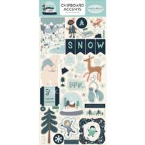 Carta Bella - Snow Much Fun 6x13 Chipboard Stickers - Accents