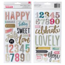 Crate Paper - Maggie Holmes Confetti chipboard feliratok (42 db)