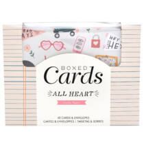 Crate Paper - All Heart Boxed Cards Set (40 Cards and 40 Envelopes)
