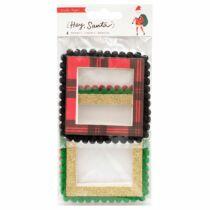 Crate Paper - Hey, Santa pom-pom keretek (4 db)