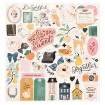 Crate Paper - Maggie Holmes - Marigold 12x12 Chipboard Sticker (50 Piece)
