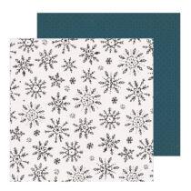 Crate Paper - Snowflake 12x12 scrapbook papír - Winterscape