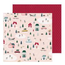 Crate Paper - Snowflake 12x12 scrapbook papír - Village