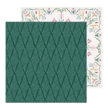 Crate Paper - Snowflake 12x12 Patterned Paper - Icicles