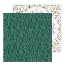 Crate Paper - Snowflake 12x12 scrapbook papír - Icicles