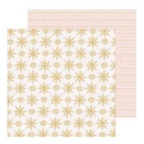 Crate Paper - Snowflake 12x12 scrapbook papír - Snowcapped