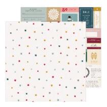 Crate Paper - Snowflake 12x12 scrapbook papír - Marshmallow