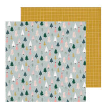 Crate Paper - Snowflake 12x12 scrapbook papír - Spruce