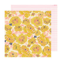 Crate Paper - Maggie Holmes - Sweet Story 12x12 Paper - Buttercup