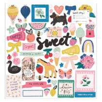 Crate Paper - Maggie Holmes - Sweet Story 12x12 Chipboard Stickers (55 Piece)