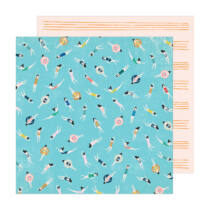 Crate Paper - Maggie Holmes - Sunny Days 12x12 Patterned Paper -  Pool Time