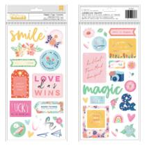 Dear Lizzy - She's Magic Chipboard Phrase Thickers - Delightful (44 Piece)