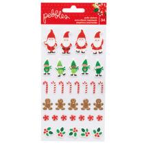 Pebbles - Cozy & Bright Puffy Stickers 34/Pkg