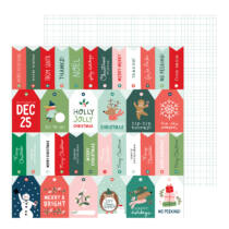 Pebbles - Merry Little Christmas 12x12 Patterned Paper - Just For You