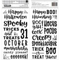 Pebbles - Spoooky Puffy Phrase Thickers (126 Piece)
