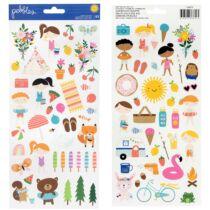 Pebbles - Sun and Fun 6x12 Sticker Sheet (83 Piece)