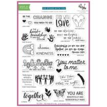 Stamping Village Collaboration 6x8 Stamp Set - We stand with you