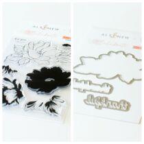 Pinkfres Studio + Altenew - Celebrate 4x6 Stamp Set and Coordinating Die - Celebrate us