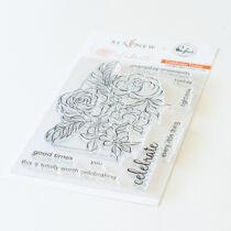 Pinkfres Studio + Altenew - Celebrate 4x6 bélyegző - Celebrate Today