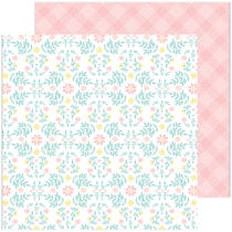 Pinkfresh Studio - Happy Blooms 12x12 Paper - Cottage