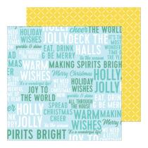 Pinkfresh Studio - Holiday Magic 12x12 Paper - Warm Wishes