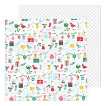 Pinkfresh Studio - Holiday Magic 12x12 Paper - Merry and Bright