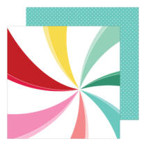 Pinkfresh Studio - Holiday Magic 12x12 Paper - Candy Cane