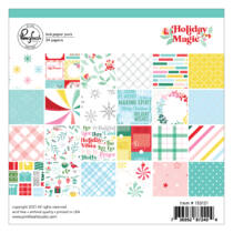 Pinkfresh Studio - Holiday Magic 6x6 Paper Pad - Double Sided