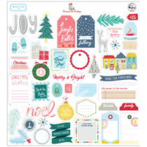 Pinkfresh Studio - Home for the Holidays Ephemera pack (42 Pieces)