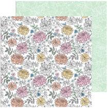 Pinkfresh Studio - My Favorite Story 12x12 Paper - Bloom and Grow