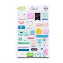 Pinkfresh Studio - My Favorite Story Puffy Stickers